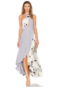 Purple/White Maxi Dress by Privacy Please Floral Halter