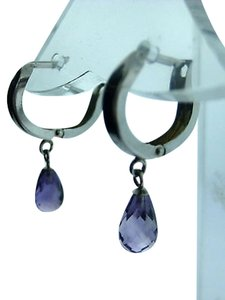 Other Fine,Estate,14k,White,Gold,Purple,Stone,Earrings,