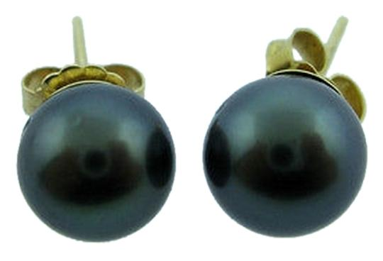 Other Fine,Estate,18k,Yellow,Gold,Tahitian,Pearl,Earrings,