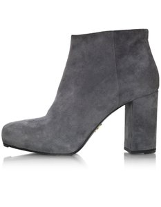 Prada Ankle Suede Grey Boots