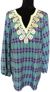 Mudpie Blouse V-neck Casual Embroidered Tunic