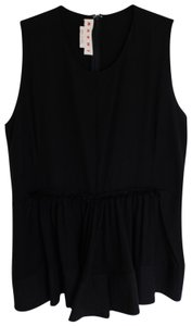 Marni Silk Peplum Top black