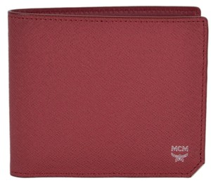 MCM New MCM Men's Ruby Tan Saffiano Leather Small Bric Bifold Wallet