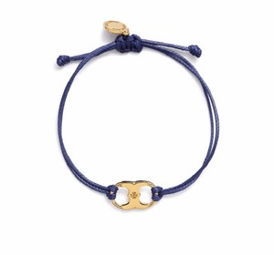 Tory Burch New Tory Burch Embrace Ambition Silk Gemini Bracelet Navy