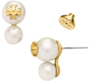 Tory Burch New Tory Burch Evie Crystal Double Pearl Studs Ivory