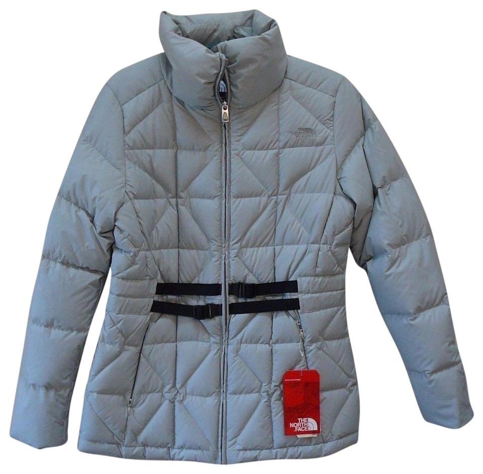 The North Face Grey Down Quilted Jacket New Medium Activewear Size
