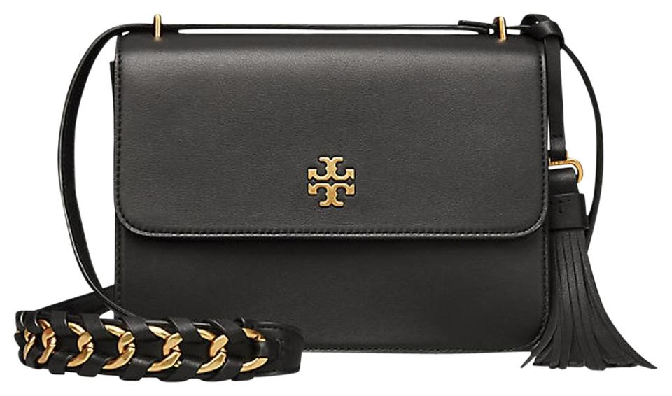 621f8373196c Tory Burch Brooke Shoulder Cross Body Black Leather Shoulder Bag ...