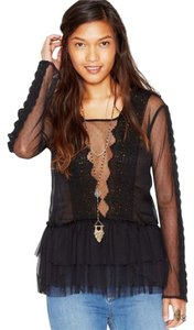 Free People Midnight Memories Sz Medium Top