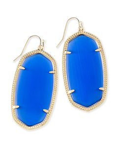 Kendra Scott NEW Kendra Scott Elle Gold Statement Drop Earrings Cobalt Blue