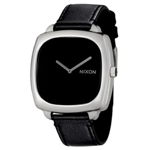 Nixon A286-000 Women's Black Leather Band With Black Analog Dial Watch