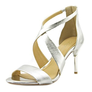 Imagine by Vince Camuto Leather Platinum Pumps
