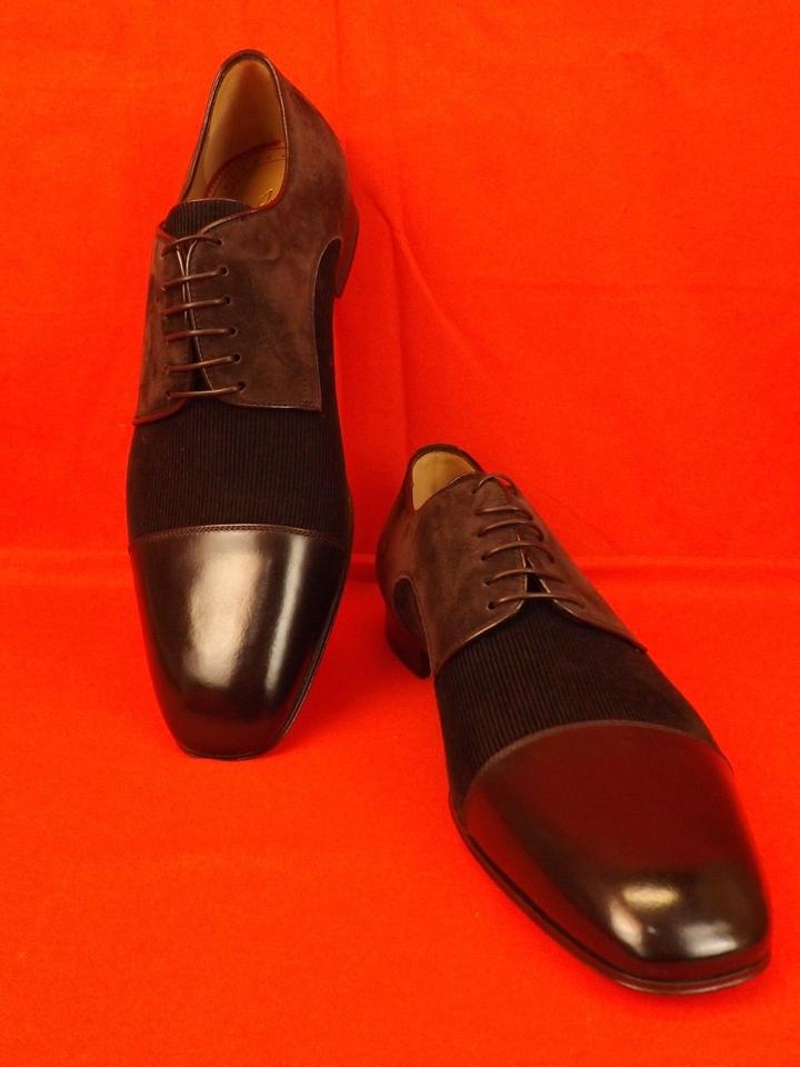 5f3bd97c49b Christian Louboutin Dark Brown Top Daviol Suede Corduroy Lace Up Leather  Toe 41 8 Shoes 27% off retail