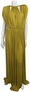 Lanvin Plisse Gown Size 40 Sleeveless Dress