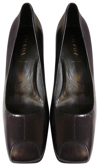 Prada Brown New Chocolate Leather Pumps Size EU 39 (Approx. US 9) Regular (M, B) Prada Brown New Chocolate Leather Pumps Size EU 39 (Approx. US 9) Regular (M, B) Image 1