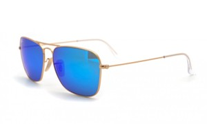 Ray-Ban Free 3 Day Shipping New RB 3136112/17 New Petite Gold Caravan