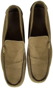 Cole Haan Driving Loafers Suede Olive Green Flats