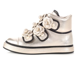 Chanel Ch.l1205.20 Sneakers Flower Metallic Gold Athletic