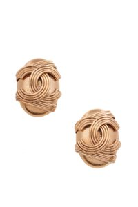 Chanel Chanel Vintage CC Earrings - Gold Clip-On