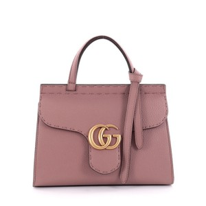 Gucci Leather Satchel in mauve