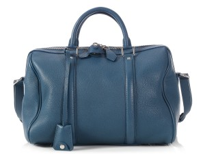 Louis Vuitton Lv.l1212.10 Sc Limited Edition Silver Hardware Duffle Satchel in COBALT BLUE