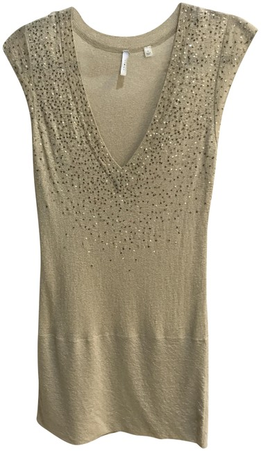 Item - 81079004 Knit Short Sleeve Small Gold Top