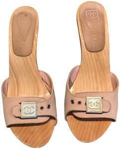 Chanel pink Mules