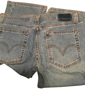 Levi's Cotton Made In Usa Boot Cut Jeans-Light Wash