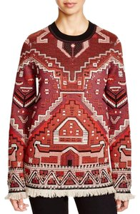 Tory Burch Jacquard Embellished Runway Tapestry Sweater