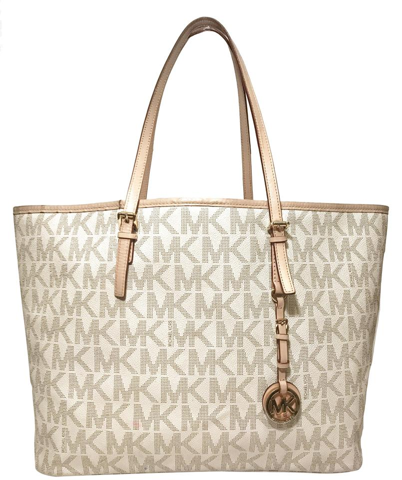 5283f61cd0c3 Michael Kors Vuitton Neverfull Damier Azur Tote in Vanilla Image 0 ...
