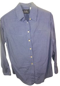 Bentley Arbuckle Button Down Shirt Blue and white plaid