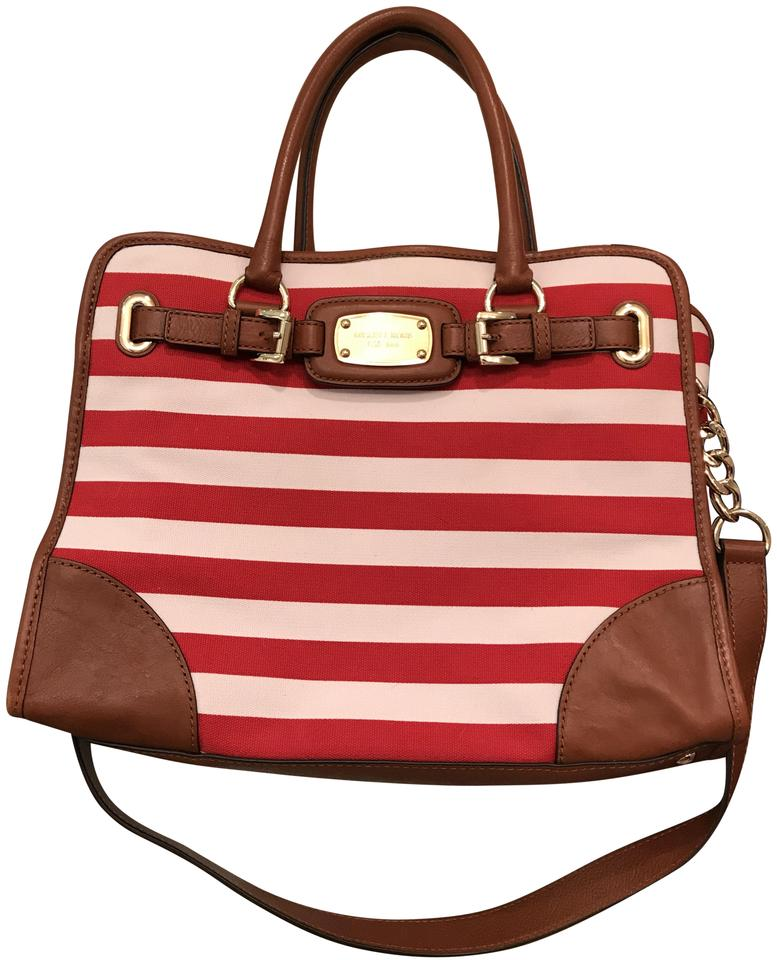 6b7ba519a84c MICHAEL Michael Kors Beach Convertible Fabric Laptop East Satchel in Red  White Image 0 ...