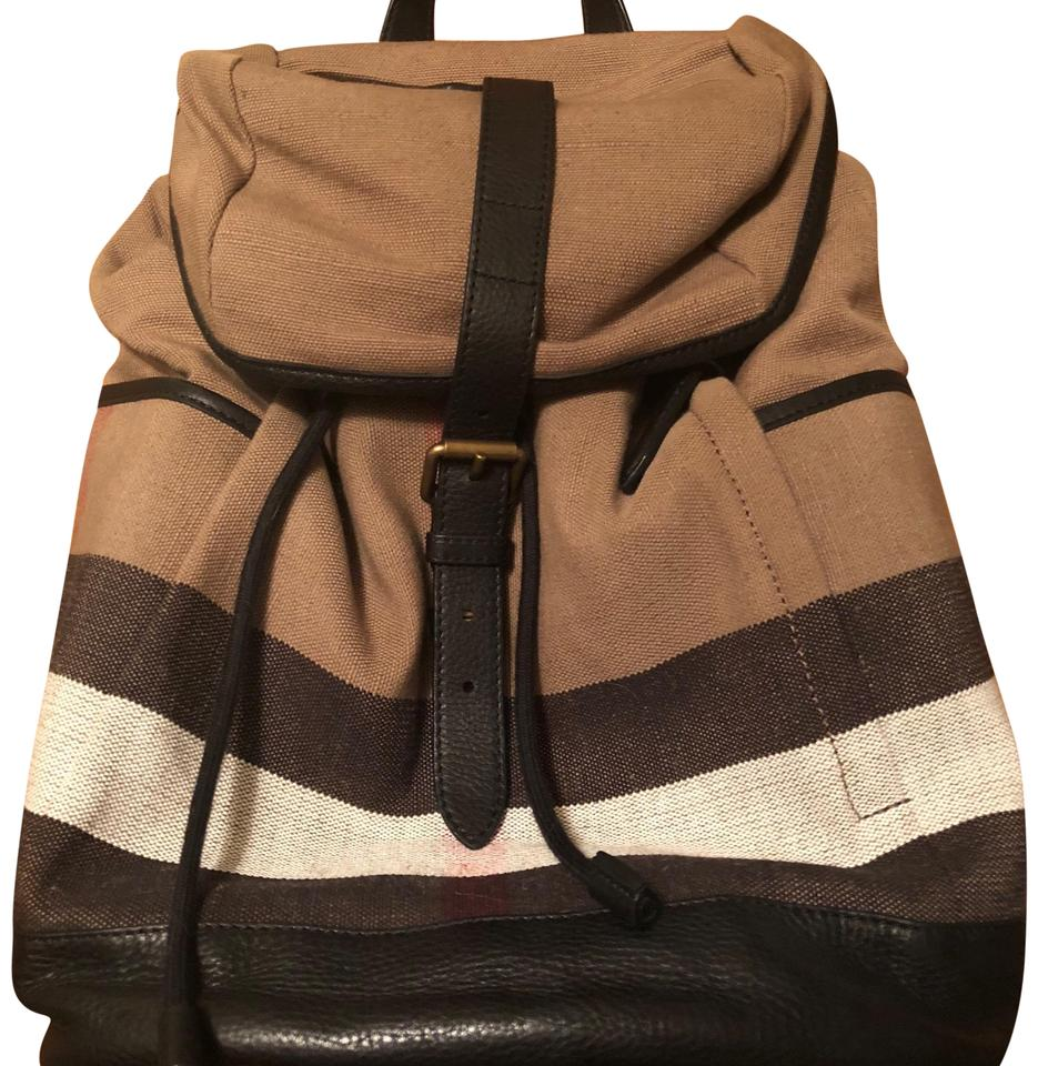 6cbfd1d5b28b Burberry The Large Rucksack In Check Canvas and Leather Backpack ...