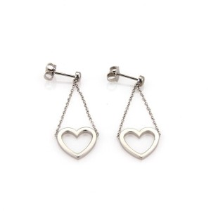 Tiffany & Co. Sentimental Hearts Dangle Earrings in 18k White Gold
