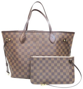 Louis Vuitton Lv Neverfull Canvas Damier Shoulder Bag