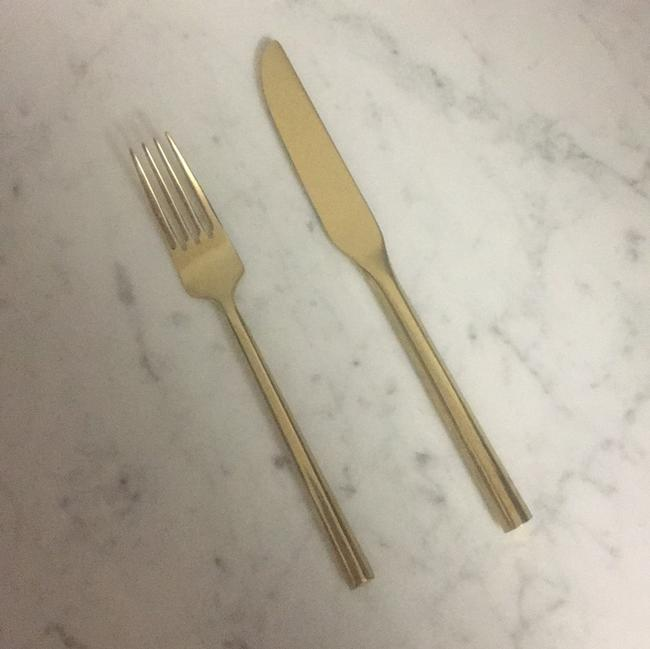 Item - Champagne Gold 135 Pairs Flatware (Fork and Knife)