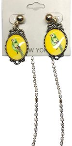 Cära Couture Jewelry Oval Yellow Medal w Birds