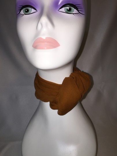 Other 2 Scarf Set; Forest Green & Tawny Brown Chiffon [ Roxanne Anjou Closet ]