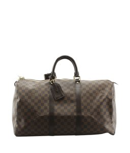 Louis Vuitton Louis Vuitton Keepall 50 Damier Ebene Duffle Bag (142075)