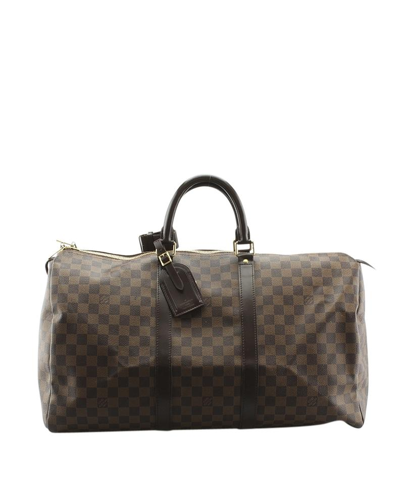 Louis Vuitton Keepall 50 Damier Ebene Duffle Bag 142075