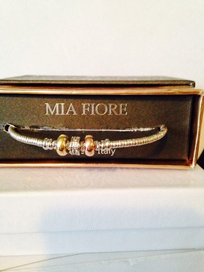 Mia Fiore Pave Set Cubic Zirconia In Copper & Sterling Silver Magnetic Bracelet