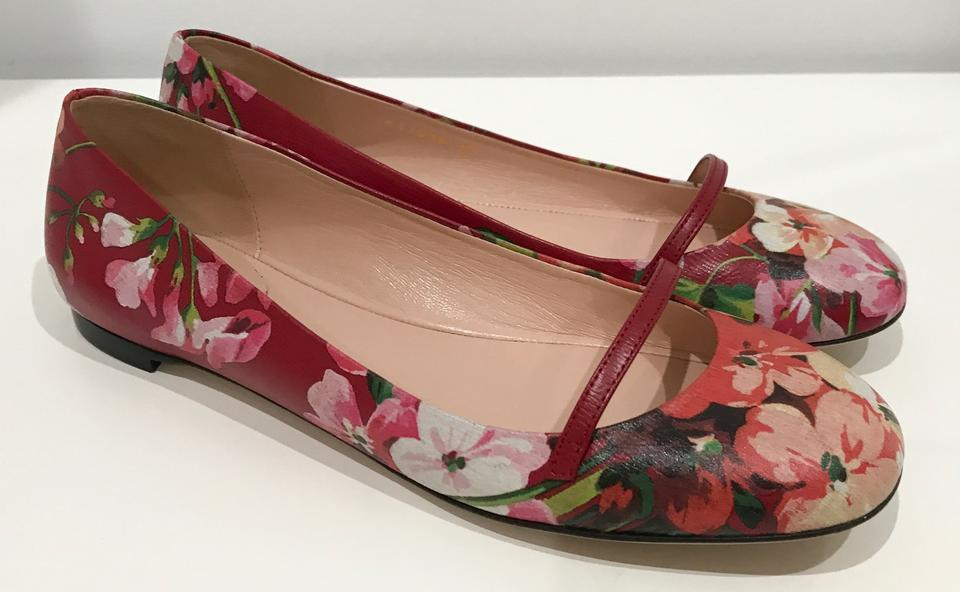 Gucci Multicolor 411038 Blooms Leather Ballet 37/7us Display Flats Size US  7 Regular (M, B) 35% off retail