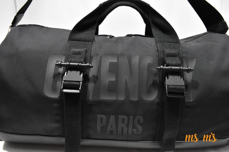 Givenchy Logo Print Gym Duffle Black Cotton Polyimide Weekend Travel ... 2bb7c02871d7d