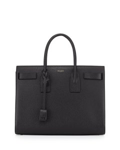 Saint Laurent Sac De Jour Medium Yves De Jour Tote in Black