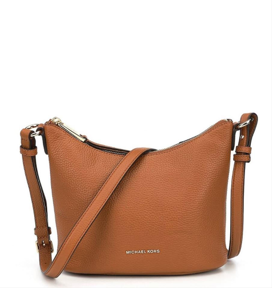 8433a8353005 Michael Kors Lupita Medium Saddle Brown Leather Messenger Bag - Tradesy