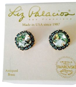RESERVED ANGELA. Liz Palacios NWOT Faceted Mint Green & Turquoise Crystal Stud Earrings