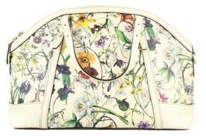 Gucci Nice Top Handle Leather Satchel in Flora