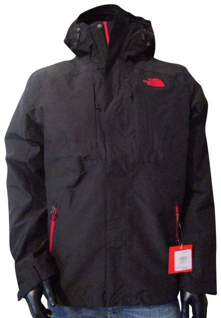 3cc09b3ba The North Face Tnf Black / Red Mens Cinder Tri 3 In 1 Hooded Waterproof  Jacket Size 12 (L)