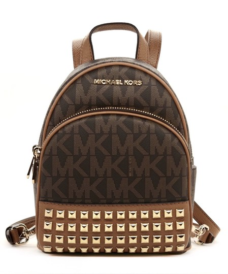 Preload https://item3.tradesy.com/images/michael-kors-abbey-studded-brown-pvc-backpack-22770602-0-0.jpg?width=440&height=440