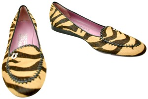 Salvatore Ferragamo Calf Hair Tiger Print Flats