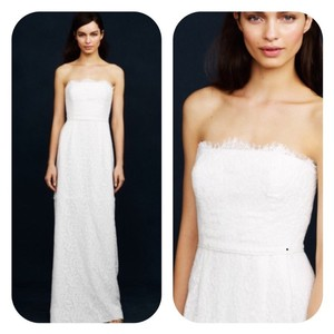 J.Crew Strapless Lace Casual Wedding Dress Size 4 (S)